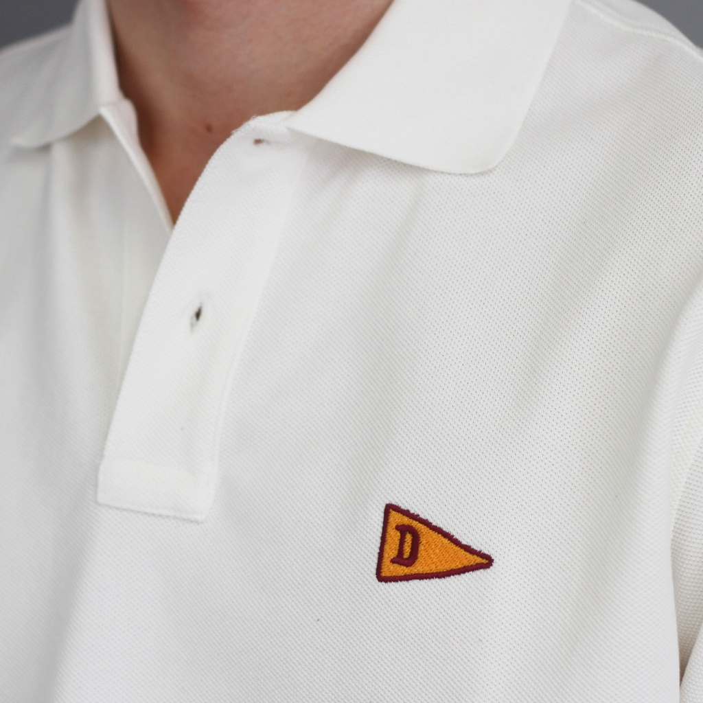 Drake's Cotton Pique Polo Shirt White