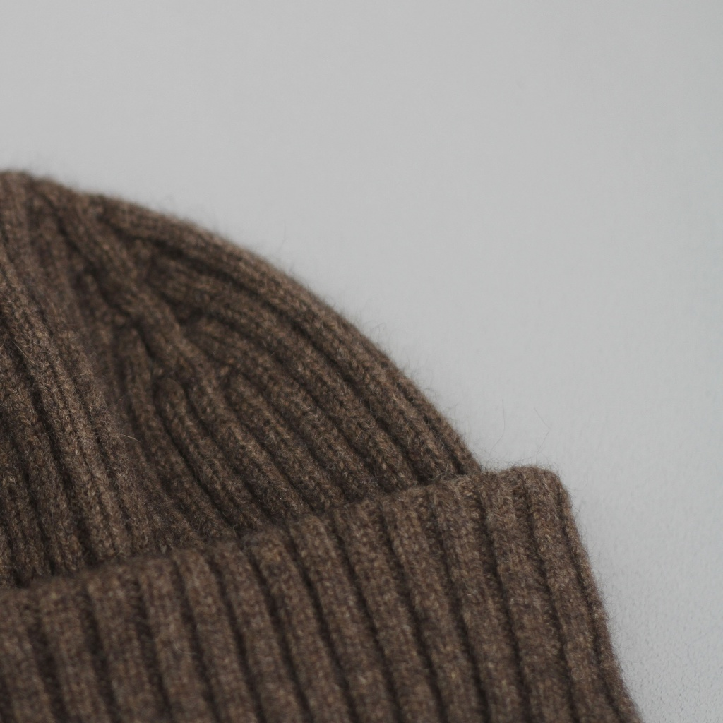 Drake's Double Turnback Watch Cap Mocha