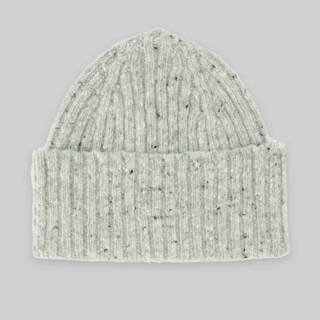 Drake´s Classic Donegal Hat Merino Wool Grey