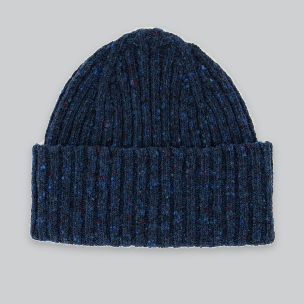Drake´s Classic Donegal Hat Merino Wool Navy