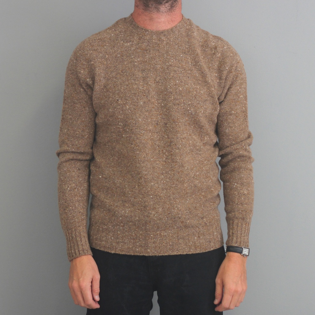 Drumohr Camel Donegal Crew Neck Sweater