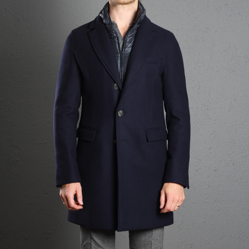 Herno Coat Down Padded Navy
