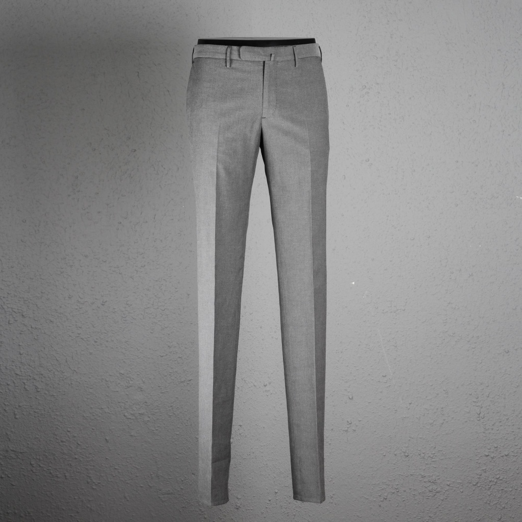 Incotex Trouser Skin Fit Ice Cotton Grey