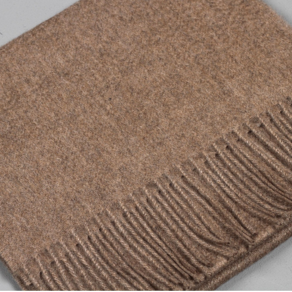 Johnstons Cashmere Scarf Twill Light Brown