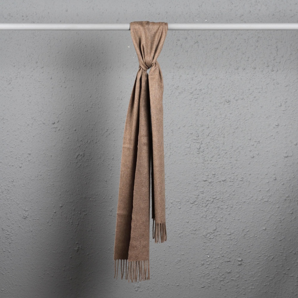 3616e5b55 Johnstons Cashmere Scarf Twill Light Brown