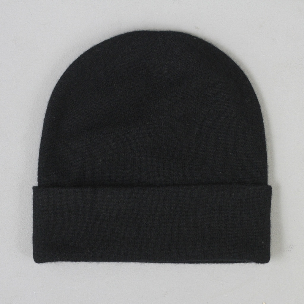 Johnstons Tall Cashmere Hat Black