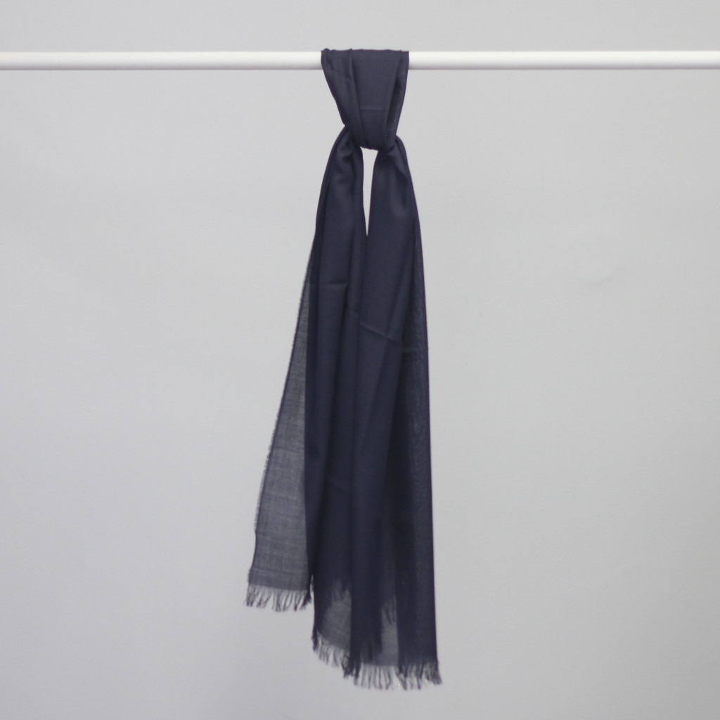 Johnstons of Elgin Superlight Merino Scarf Navy