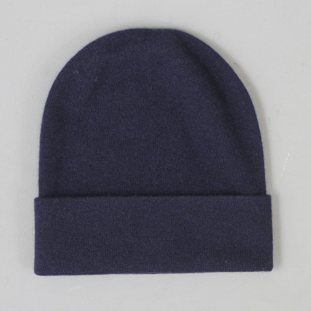 Johnstons Tall Cashmere Hat Navy