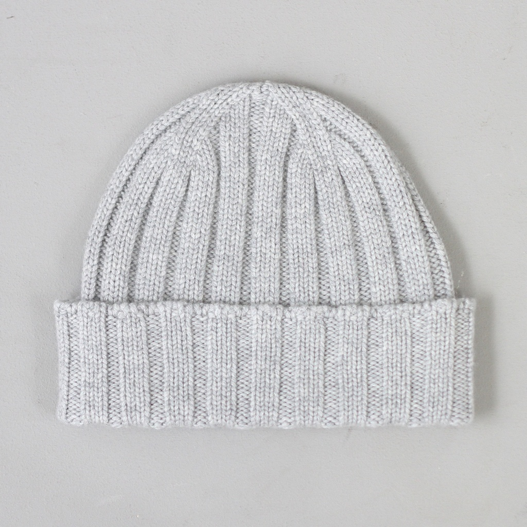 Johnstons Ribbed Cashmere Hat Silver