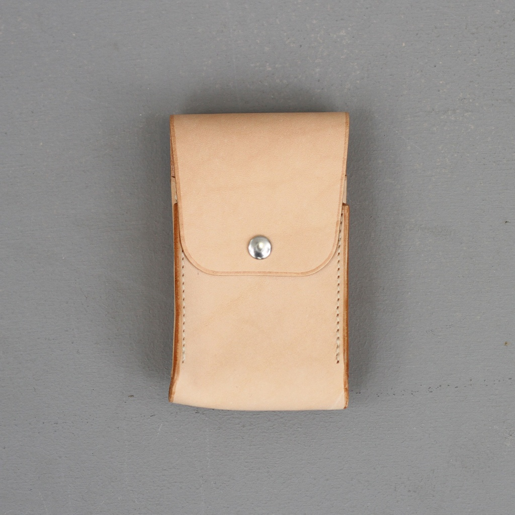 Laperruque Cigarette Case Holder Natural Leather