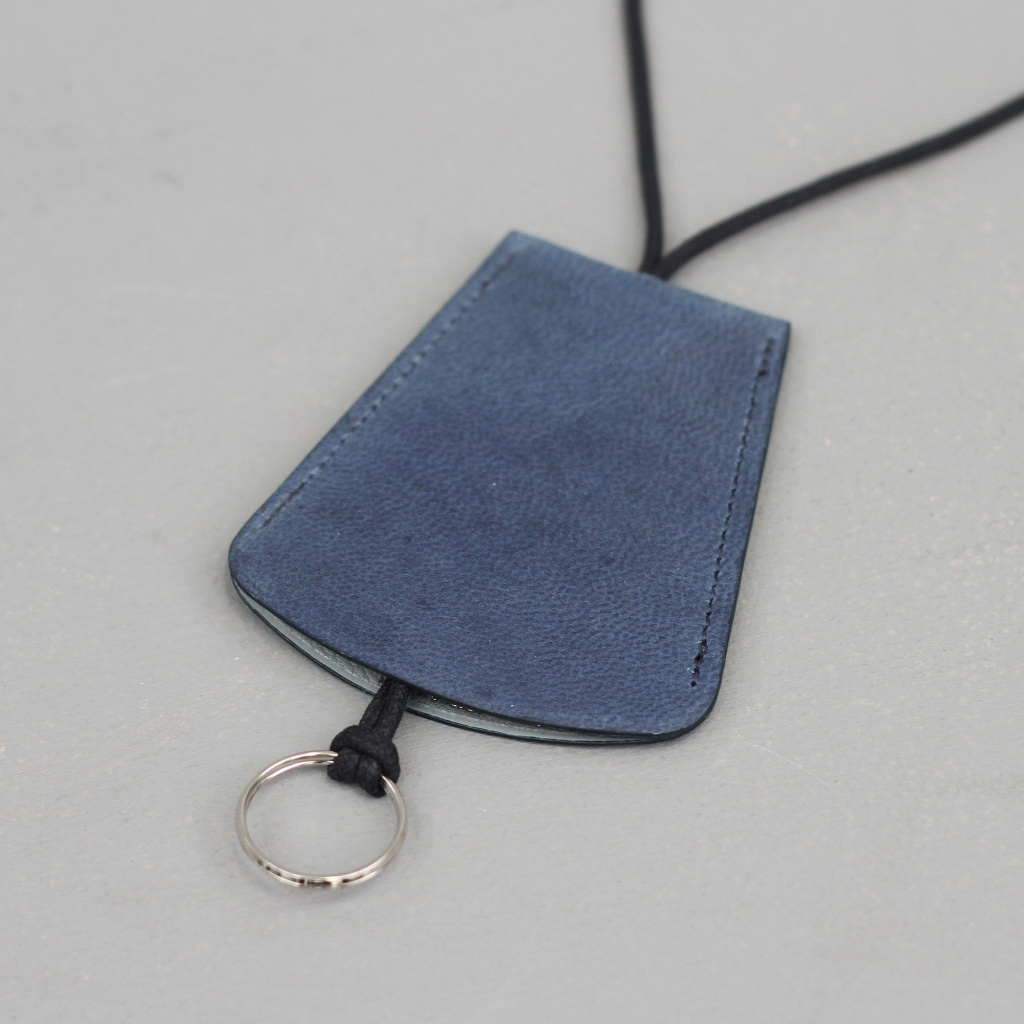 Laperruque Bell Key Holder Blue Nubuck
