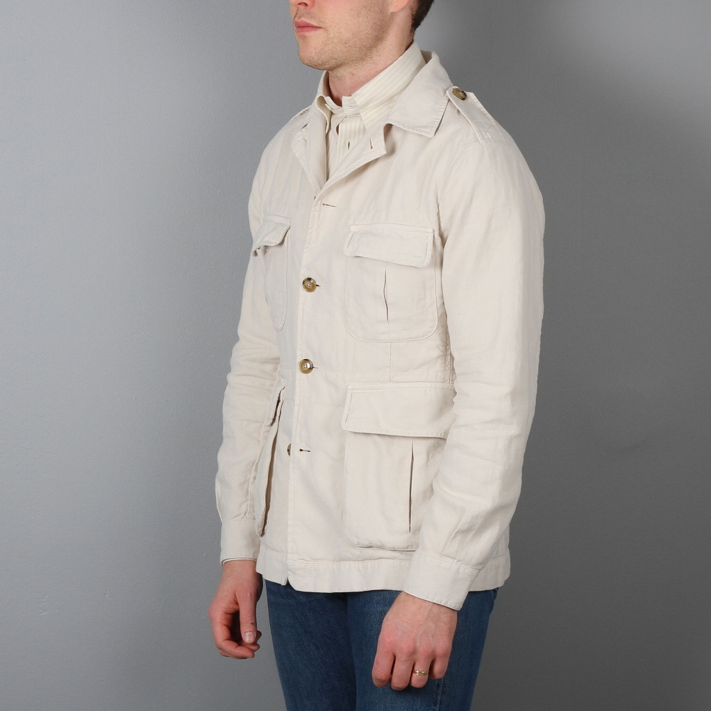 Man 1924 Safari Jacket Ecru