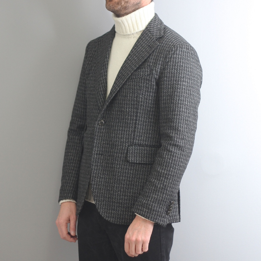 Man 1924 Kennedy Jacket Houndstooth Grey
