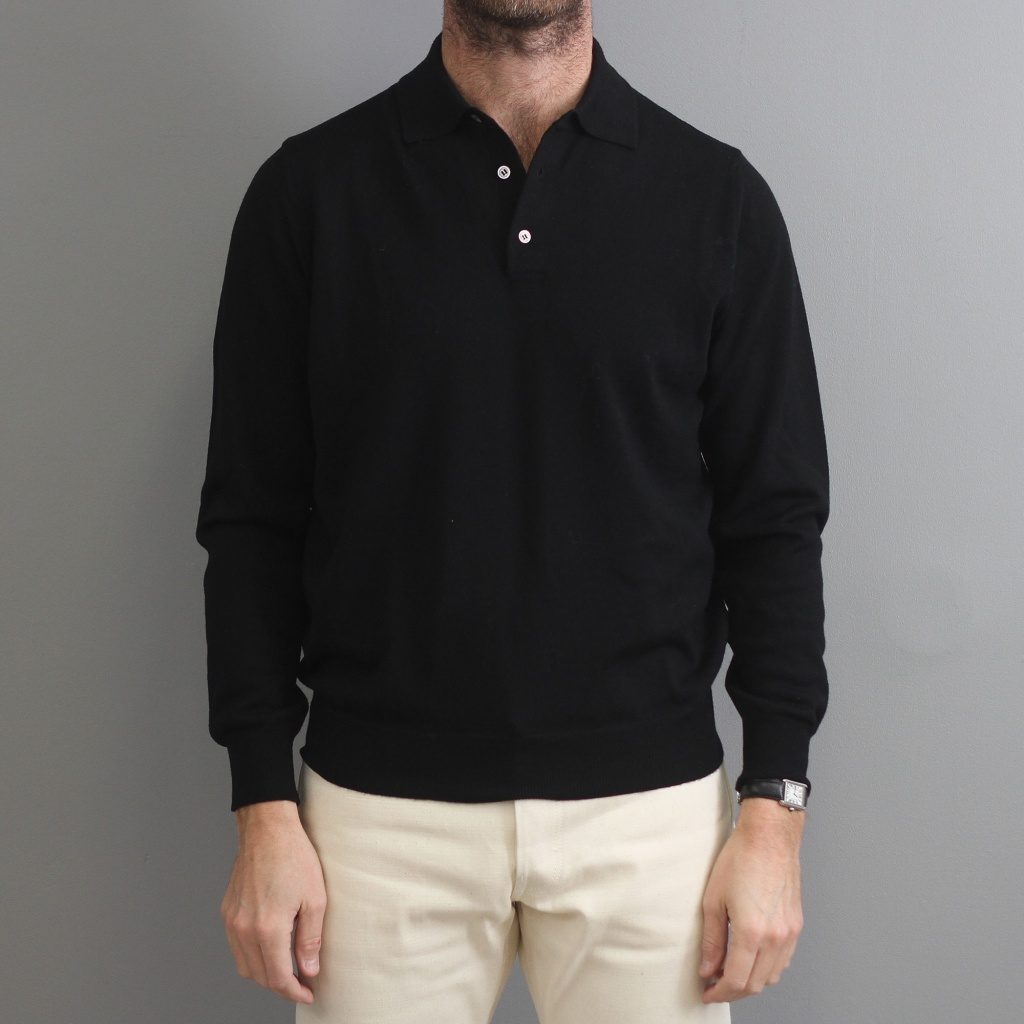 Morgano Polo Black Merino