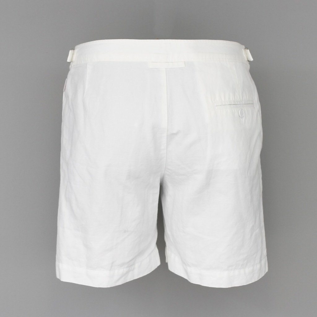 Orlebar Brown Bulldog Shorts Linen Cotton White