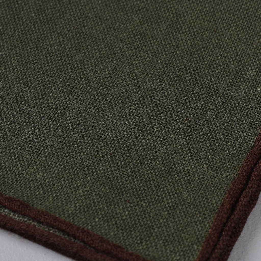 Drake's Pocket Square Wool Olive