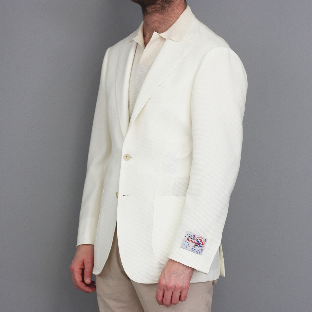 Ring Jacket Balloon Jacket White