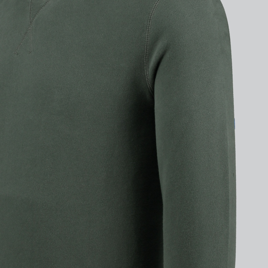 Sunspel Loopback Sweatshirt Forest Green