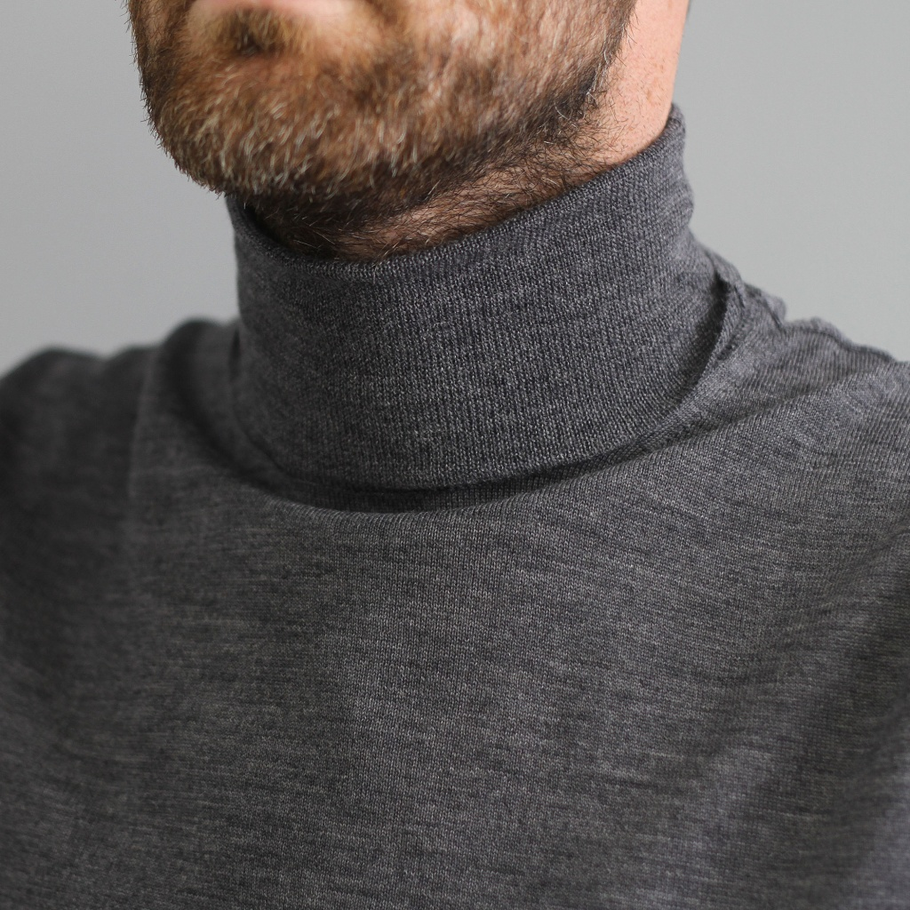 Morgano Merino Rollneck Light Grey