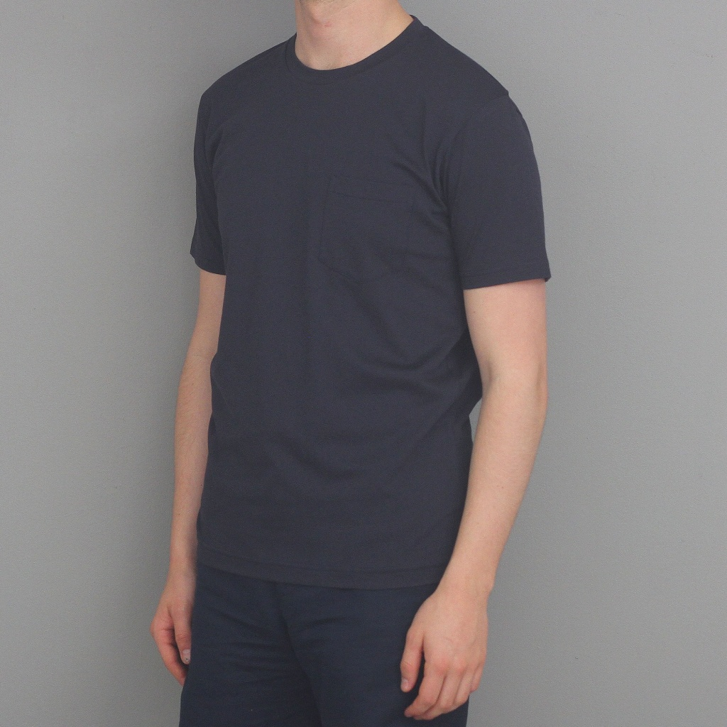 Sunspel T-Shirt Riviera Pocket Navy
