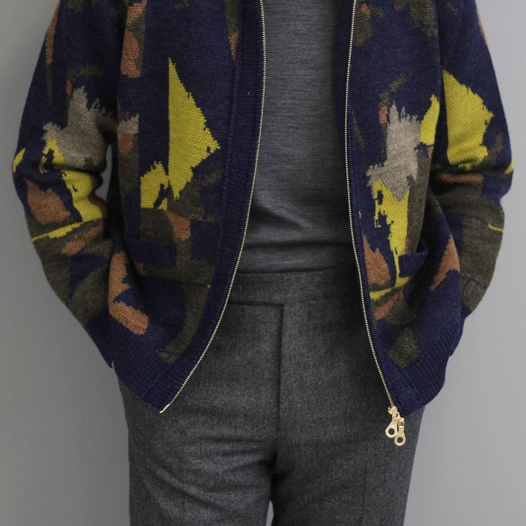 TWC Abstract Camouflage Cardigan