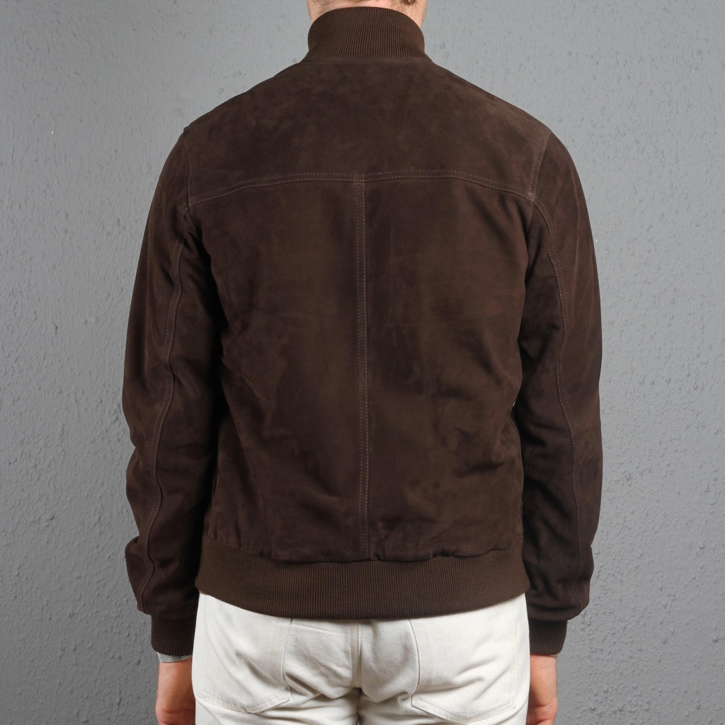 Valstarino Bomber Dark Brown Suede