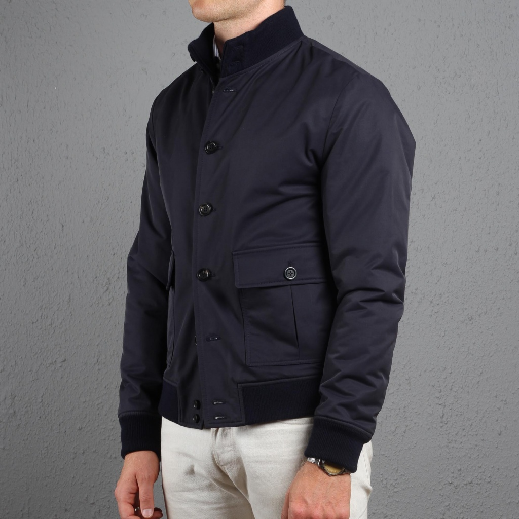 Valstarino Bomber Navy Cotton