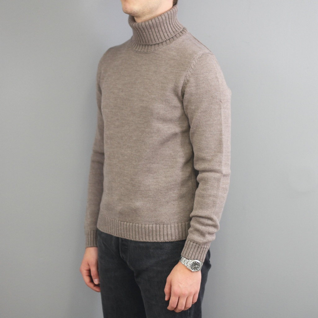 Zanone Virgin Wool Rollneck Taupe