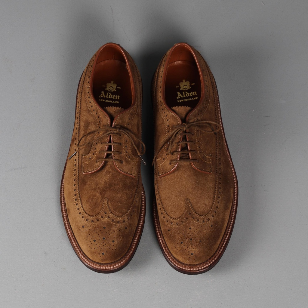 Alden Longwing Snuff Suede