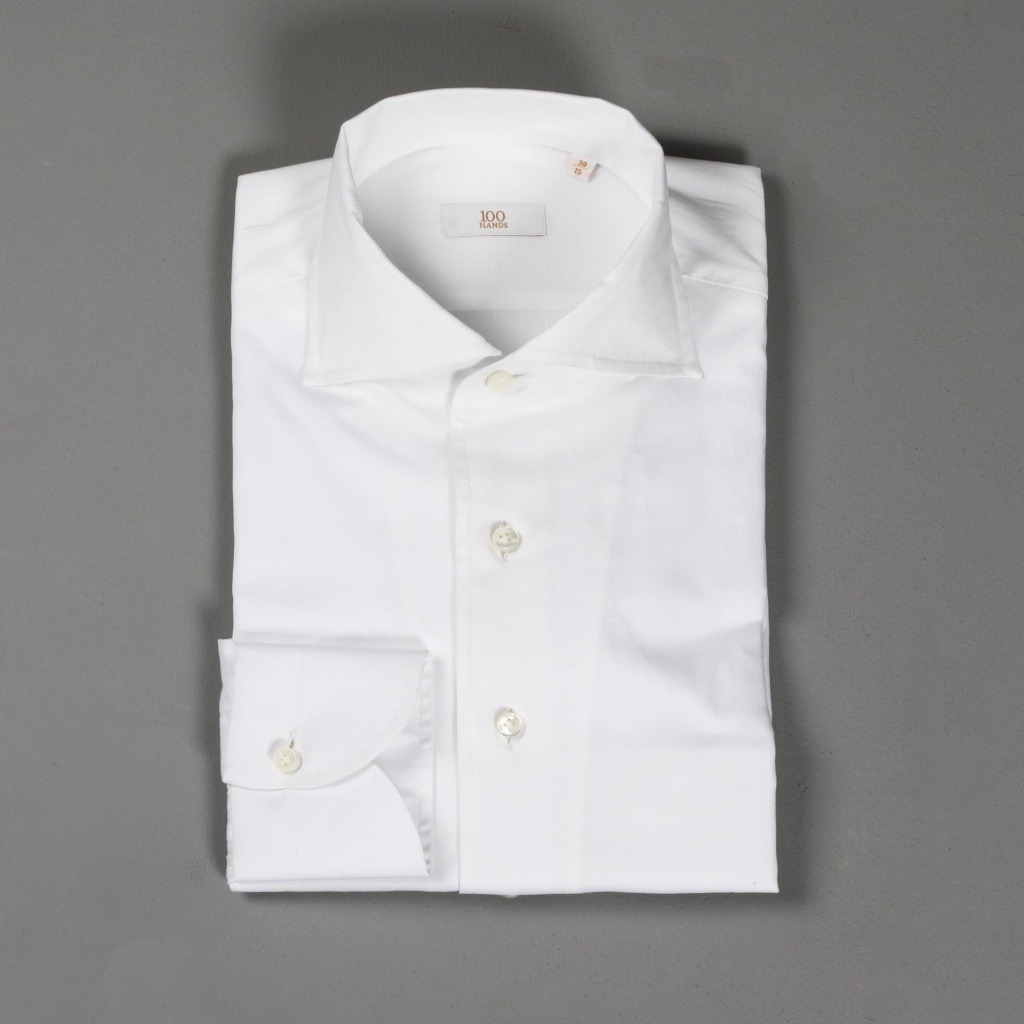 100 Hands Gold Line White Superfine Oxford