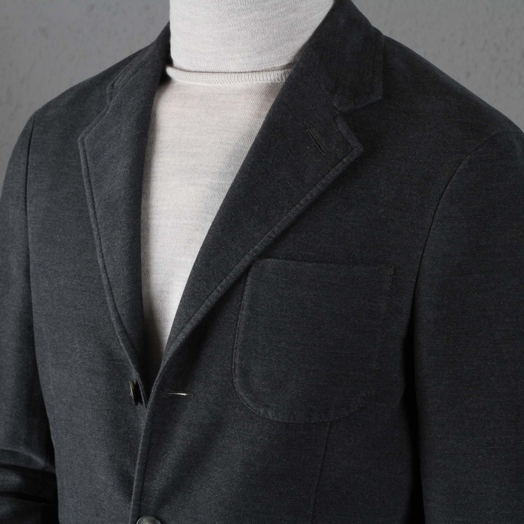 Boglioli K Jacket Washed Cotton Grey