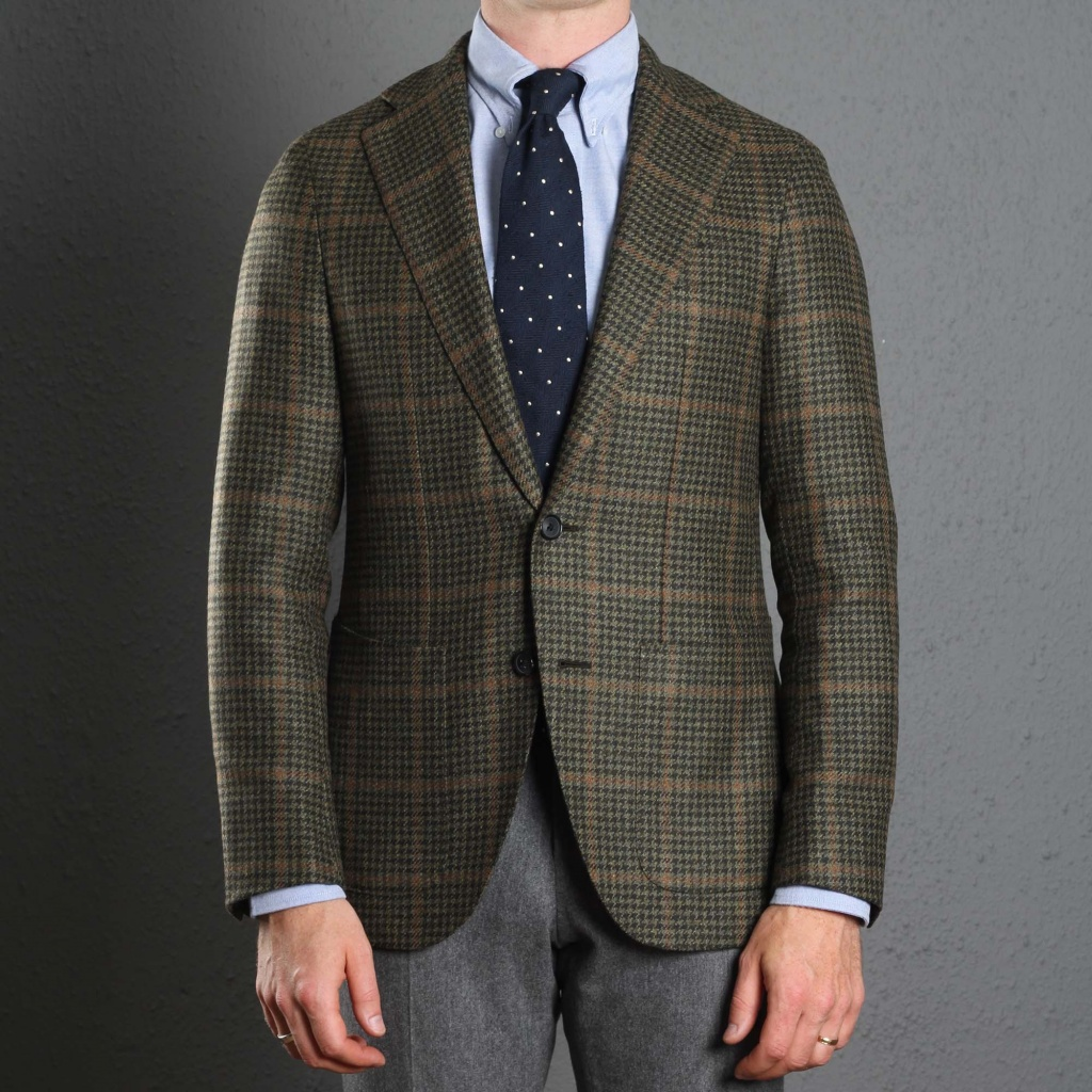 Caruso Jacket Green Check Aida