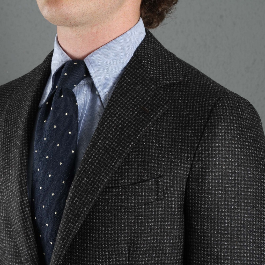 Gaiola Jacket Posillipo Grey Houndstooth