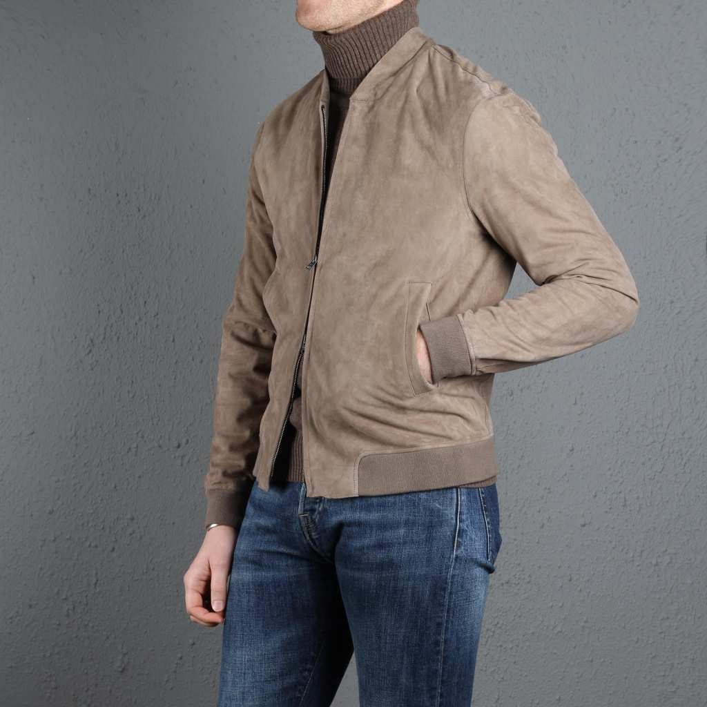 Herno Suede Bomber Light Brown