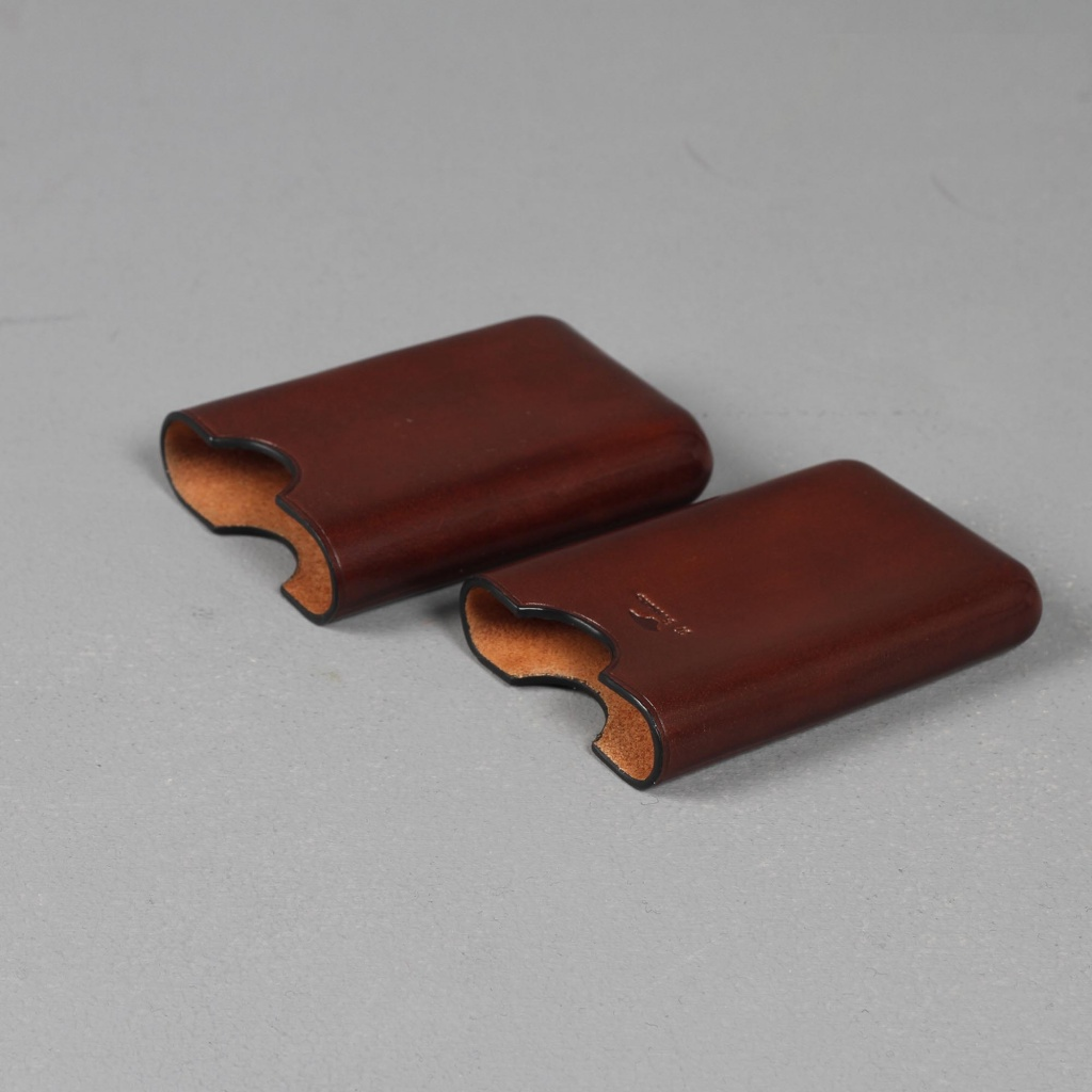 Il Bussetto Business Card Holder Brown