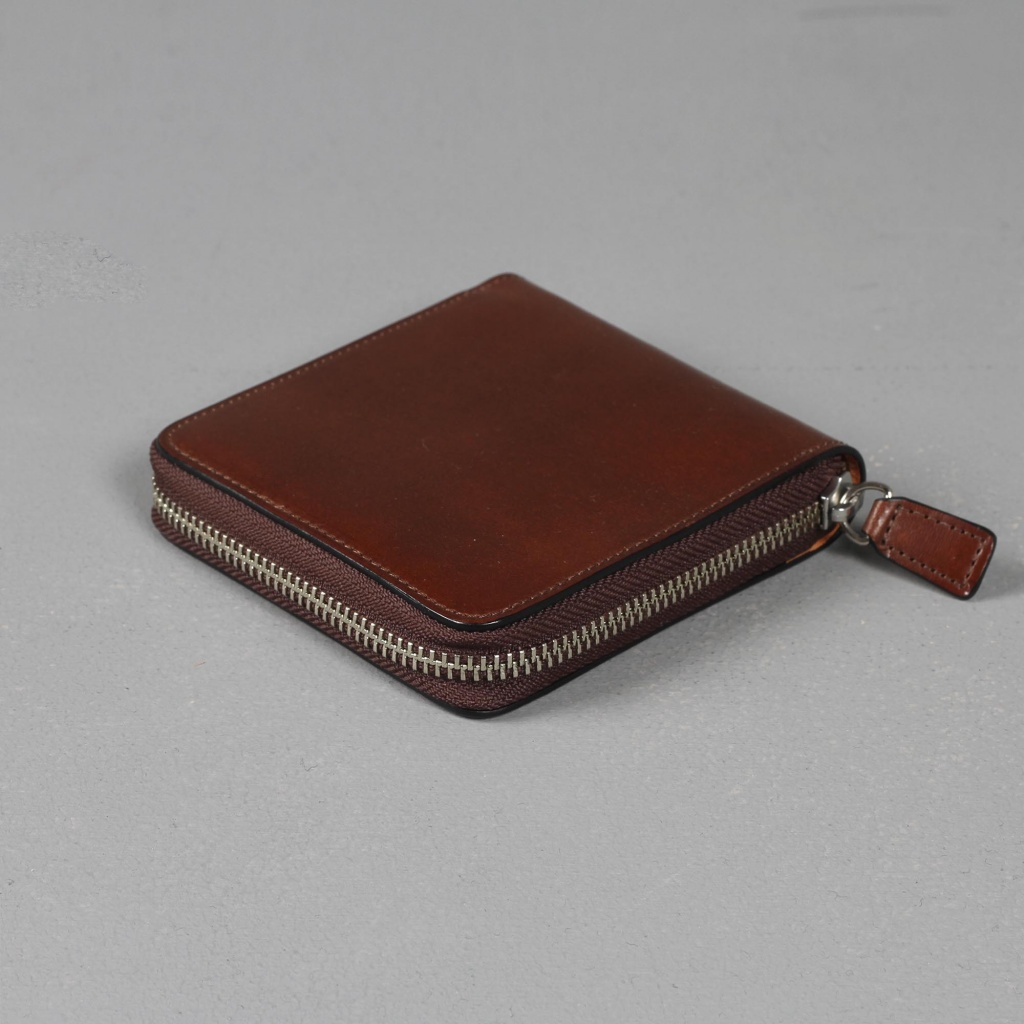 Il Bussetto Zip Wallet Brown