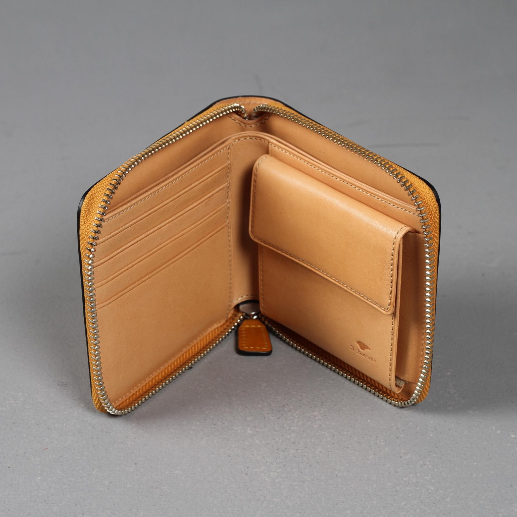 Il Bussetto Zip Wallet Tan