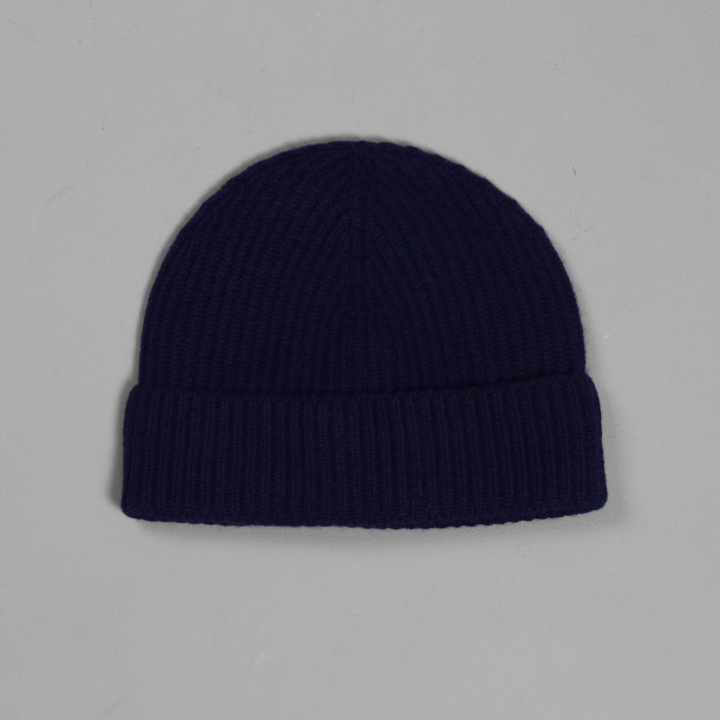 Johnstons Cashmere Hat Navy