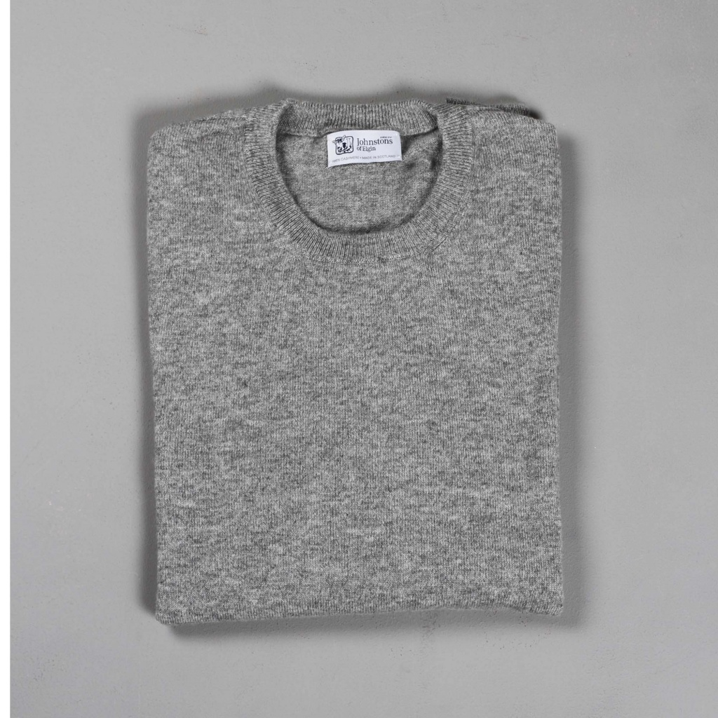 Johnstons Cashmere Sweater Light Grey