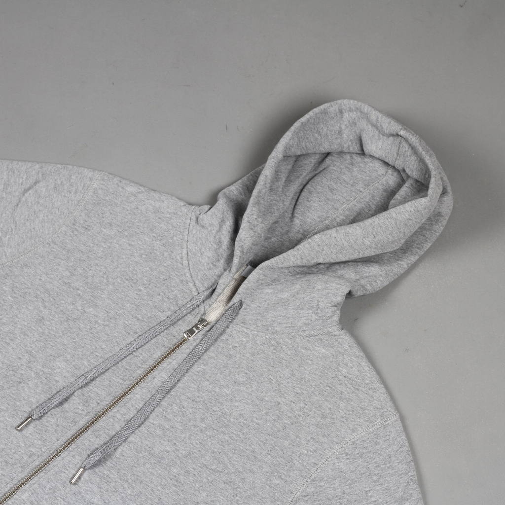 Sunspel Loopback Hoody Grey