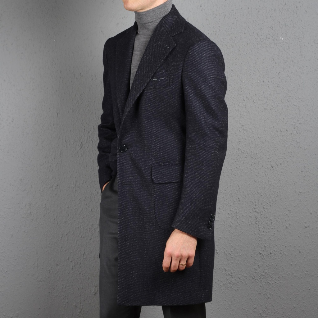 De Petrillo Coat Dark Blue Martingala