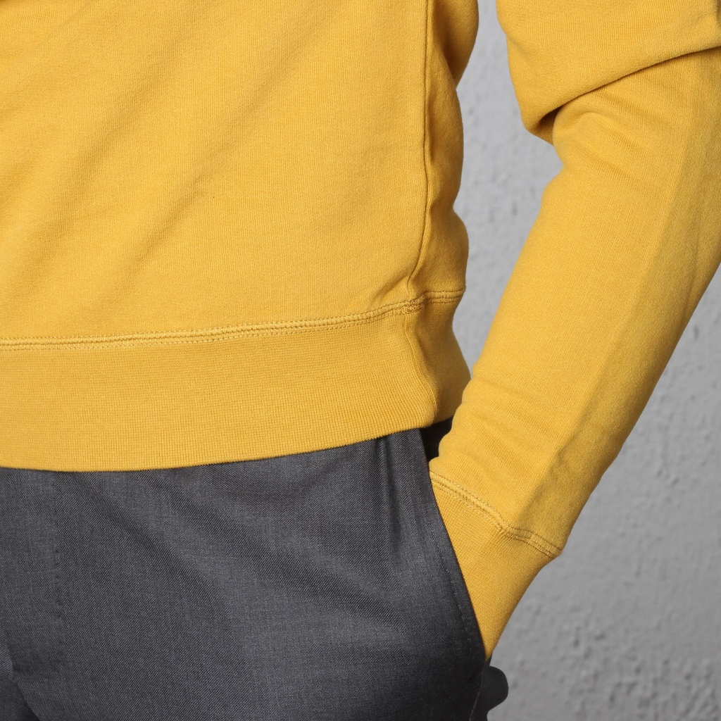 Sunspel Loopback Sweatshirt Tumeric