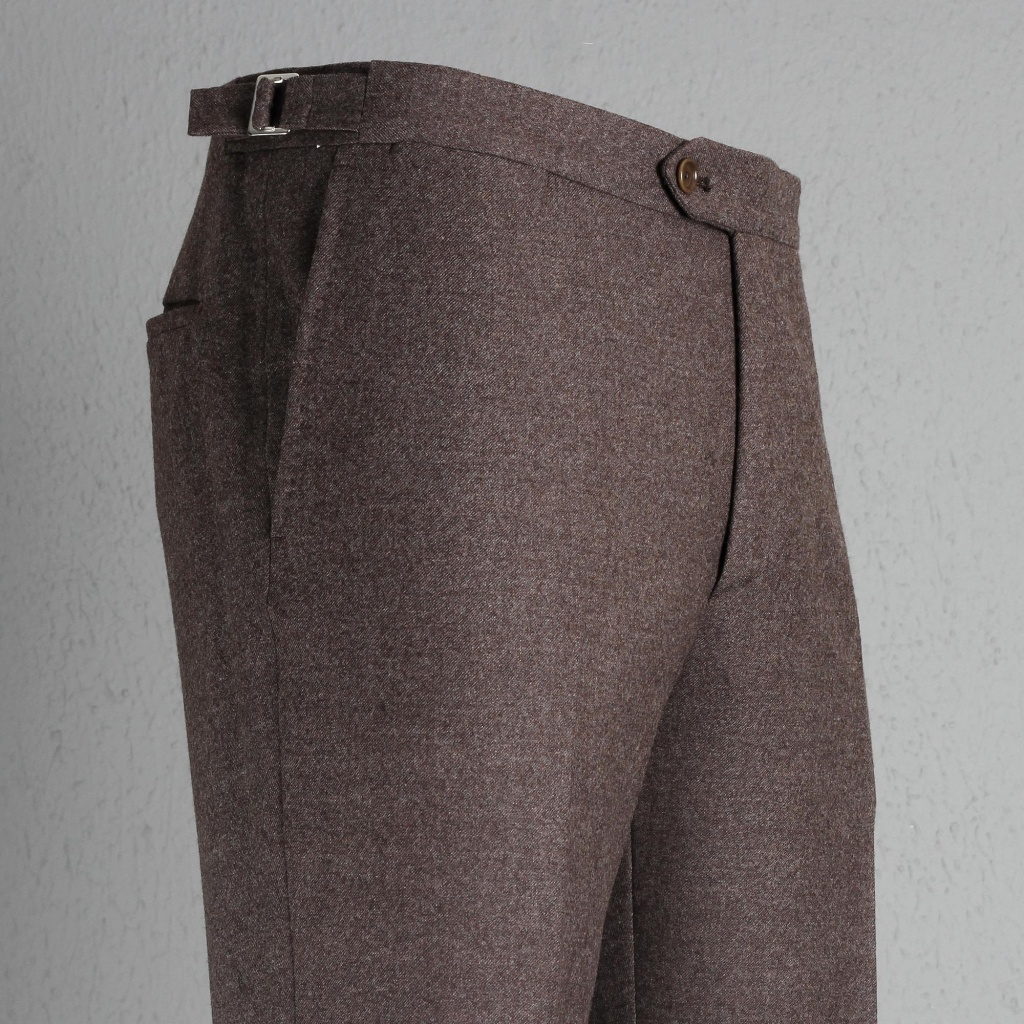 De Petrillo Trouser Brown Flannel