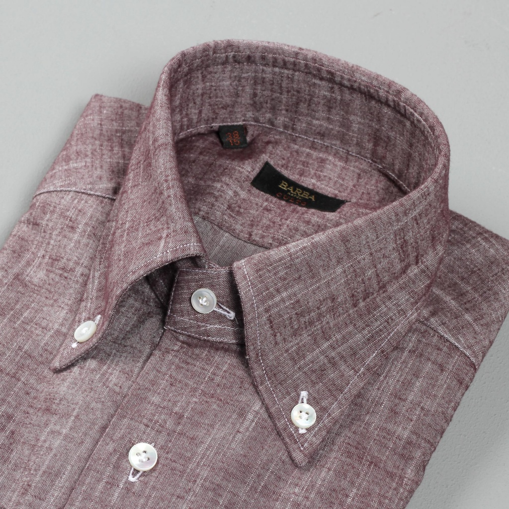 Barba Shirt Culto Buttondown Wine