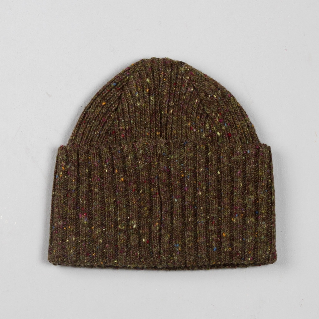 Drake's Watch Cap Olive Donegal