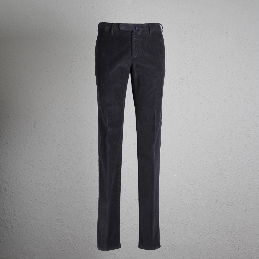Incotex Trouser Navy Cord Slim Fit