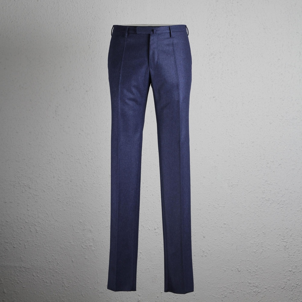 Incotex Trouser Medium Blue Wool Flannel