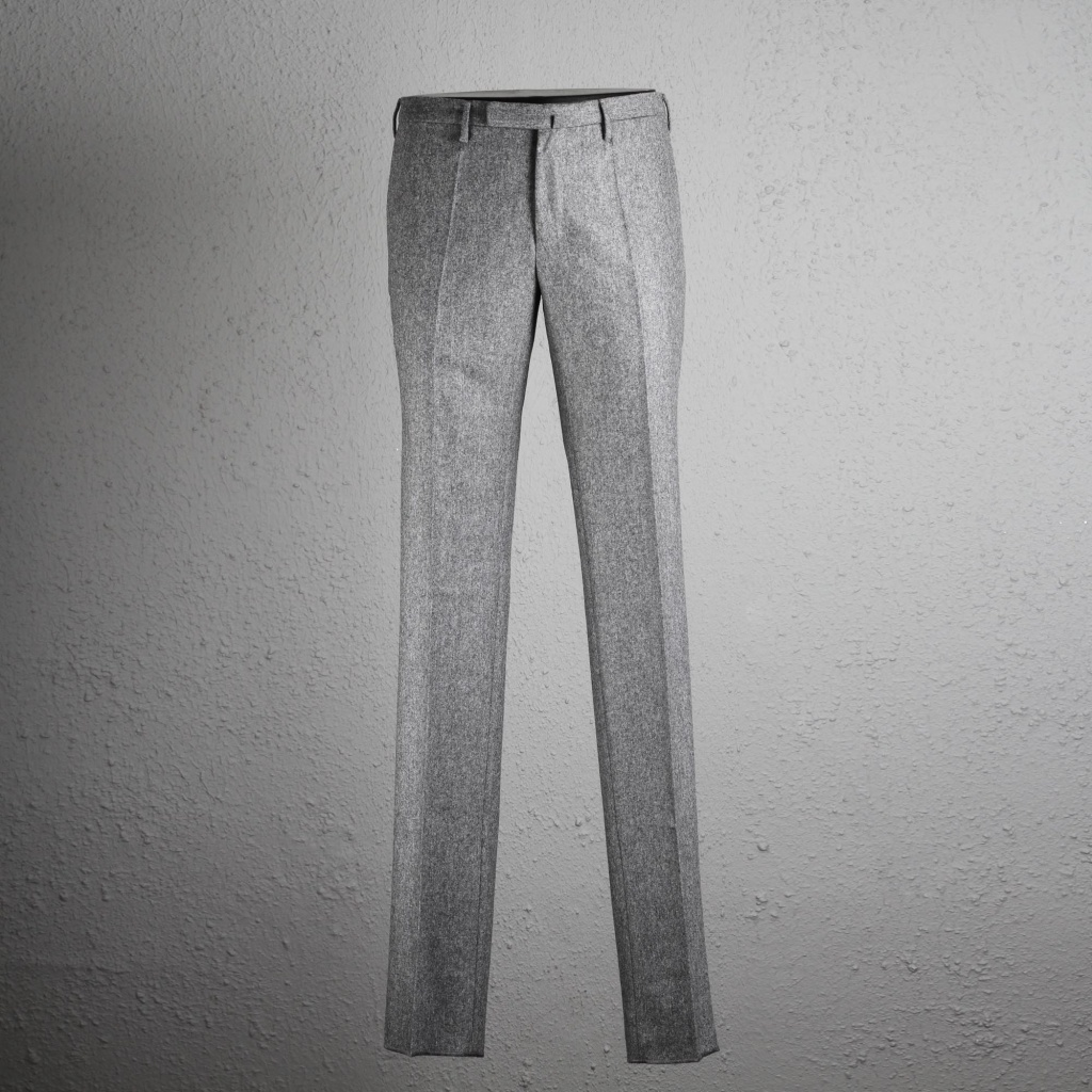 Incotex Trouser Flannel Grey Skin Fit