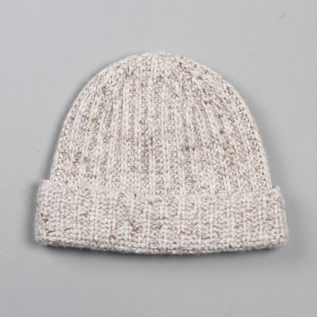 Johnstons Cashmere Hat Donegal Oatmeal