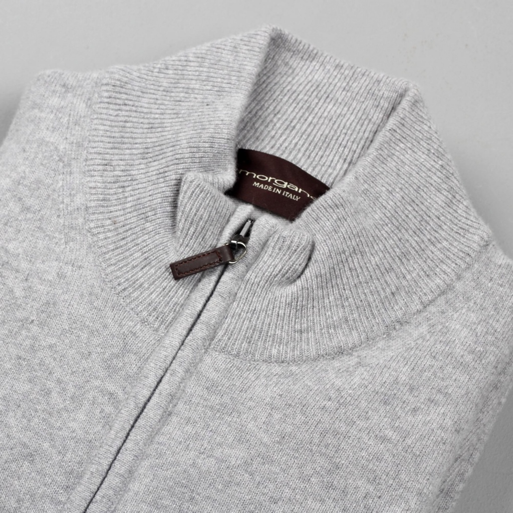 Morgano Full Zip Cashmere Merino Wool